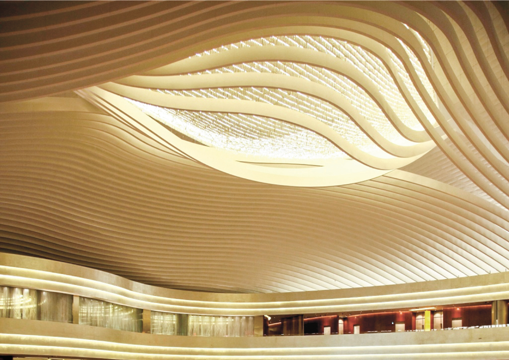 Marina Bay Sands Casino Atrium Ceiling Feature